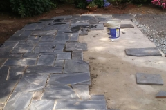Laying Stone for Patio