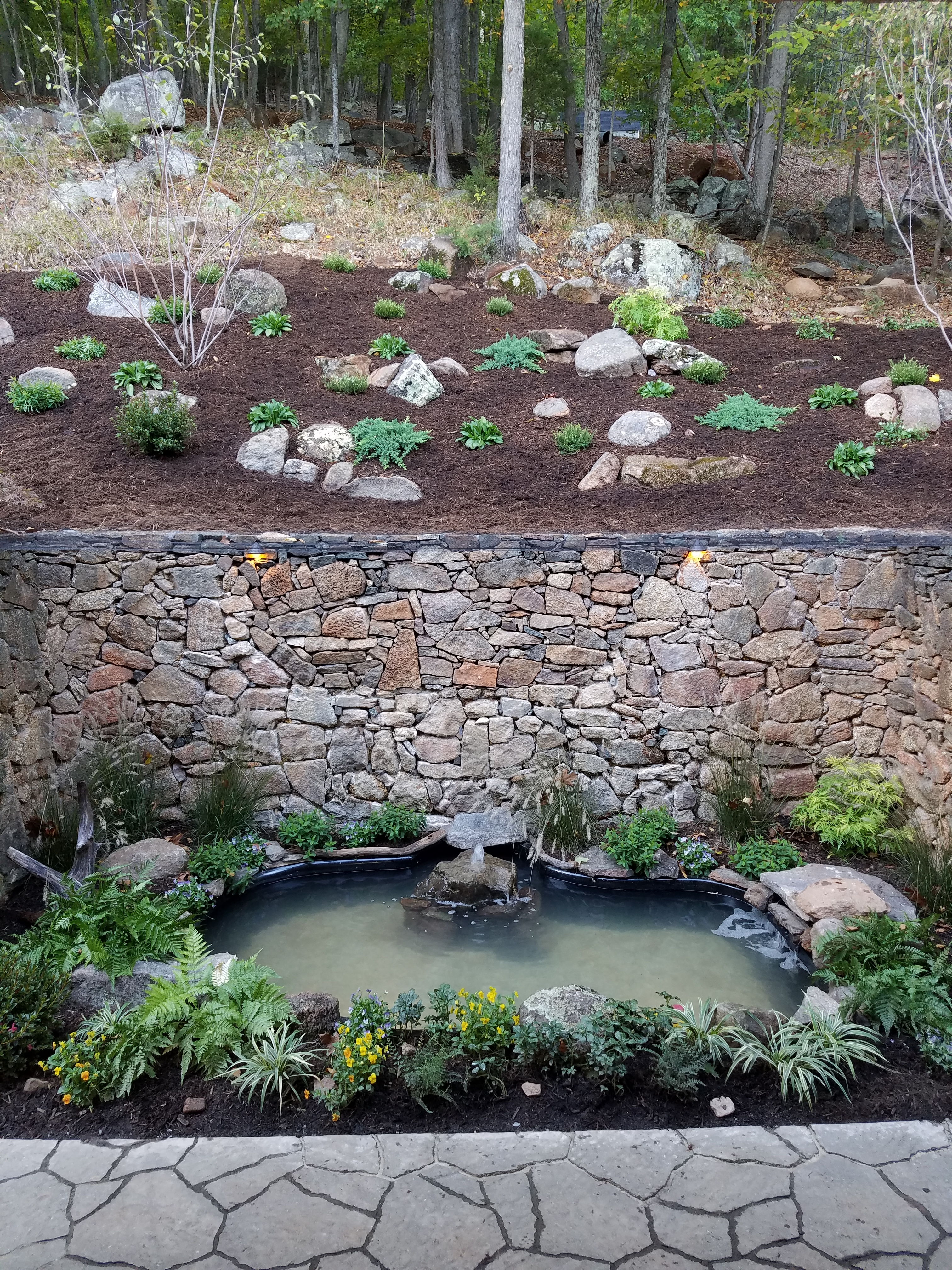 Pond Completed Center View